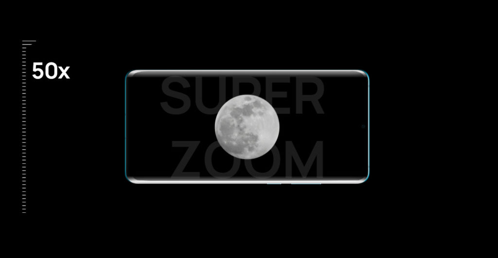 Huawei P30 Pro 50x moon zoom