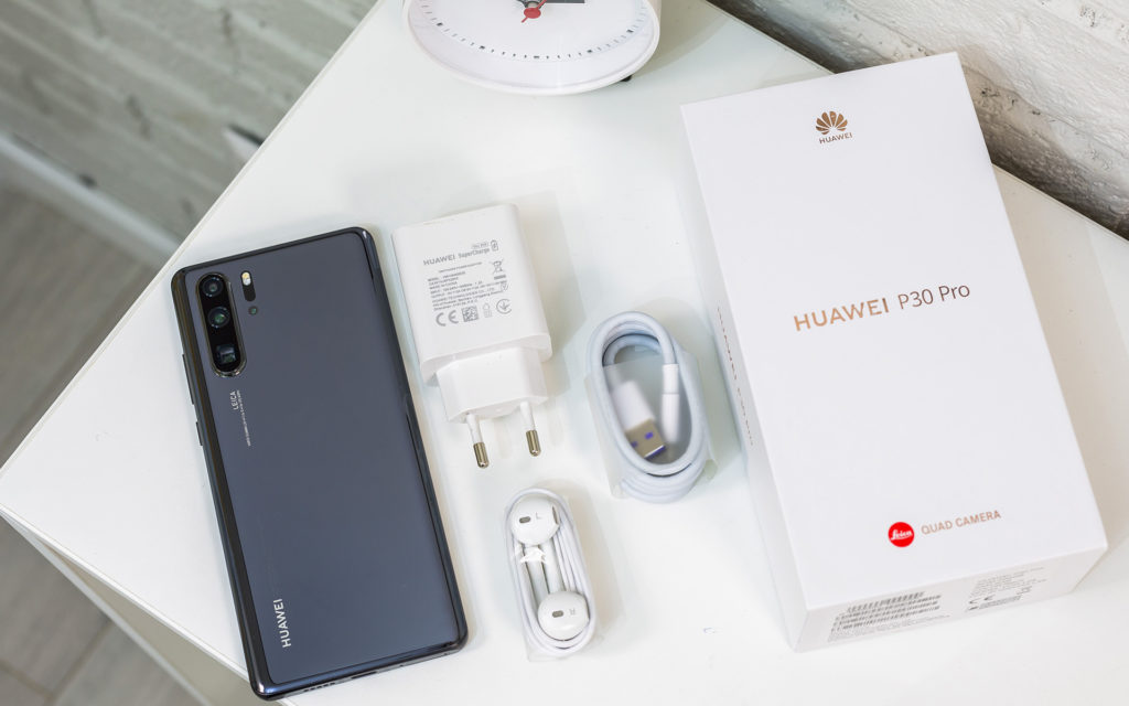 Huawei P30 Pro in the box
