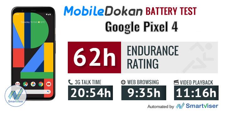 Google Pixel 4 battery test