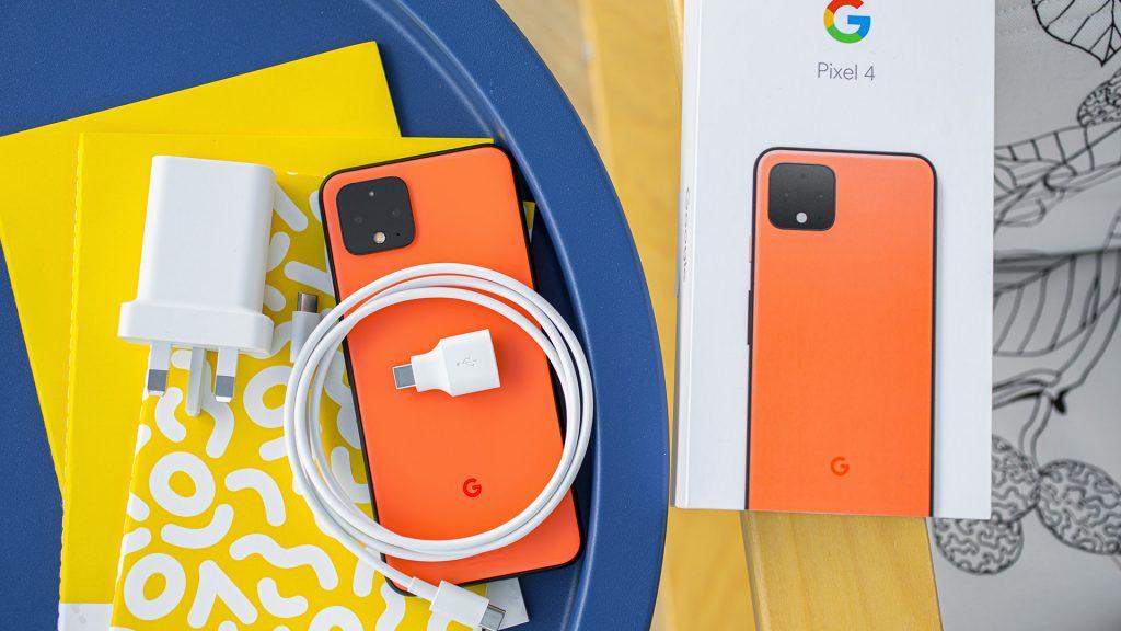 Google Pixel 4 in the box